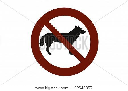 image signal forbidden to enter dogs on a beach stock photo