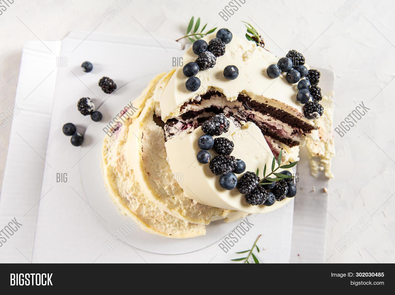 Broken Wedding Cake On White Background. Bad Birthday, Wedding. Spoiled Holiday. Bad Luck, Bad Deliv