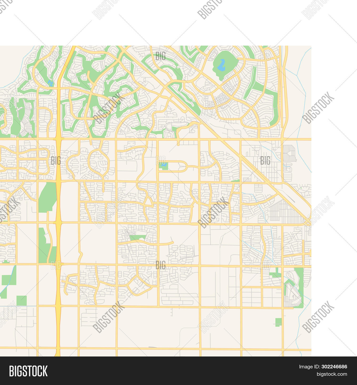 🔥 Empty Vector Map Of Surprise, Arizona, Usa, Printable ...