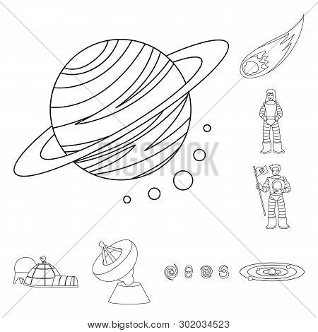 Vector illustration of space  and galaxy  icon. Collection of space  and travels  stock vector illustration. stock photo