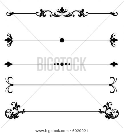 Stock Photo of Ornamental Scroll Line Rules, Royalty-Free Images ...