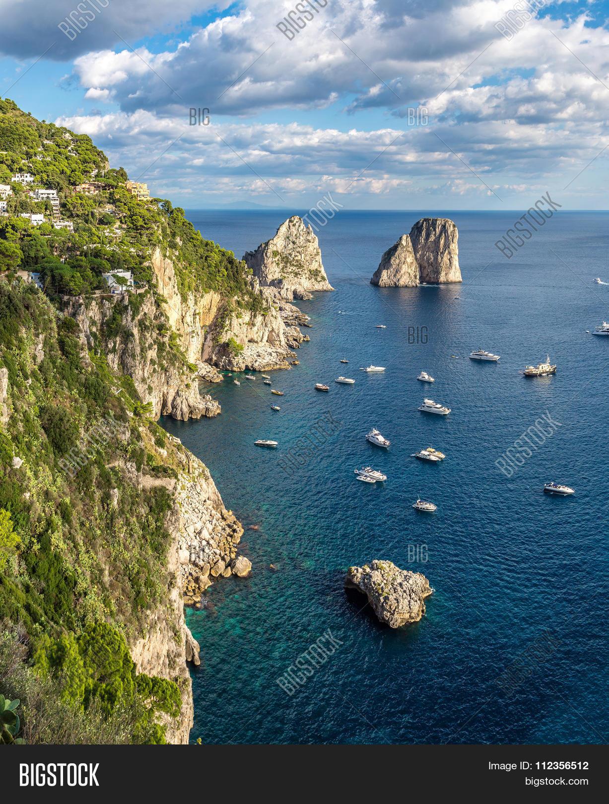 I Faraglioni di Capri all'alba (With images) | Beautiful ...  |Capri Beach Scenes