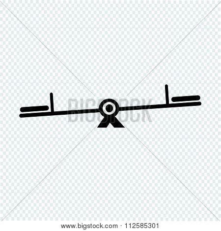 an images of symbol vector teeter icon stock photo