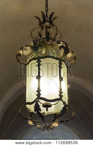 antique street lamps at summer day. Florence, Italy ** Note: Shallow depth of field stock photo