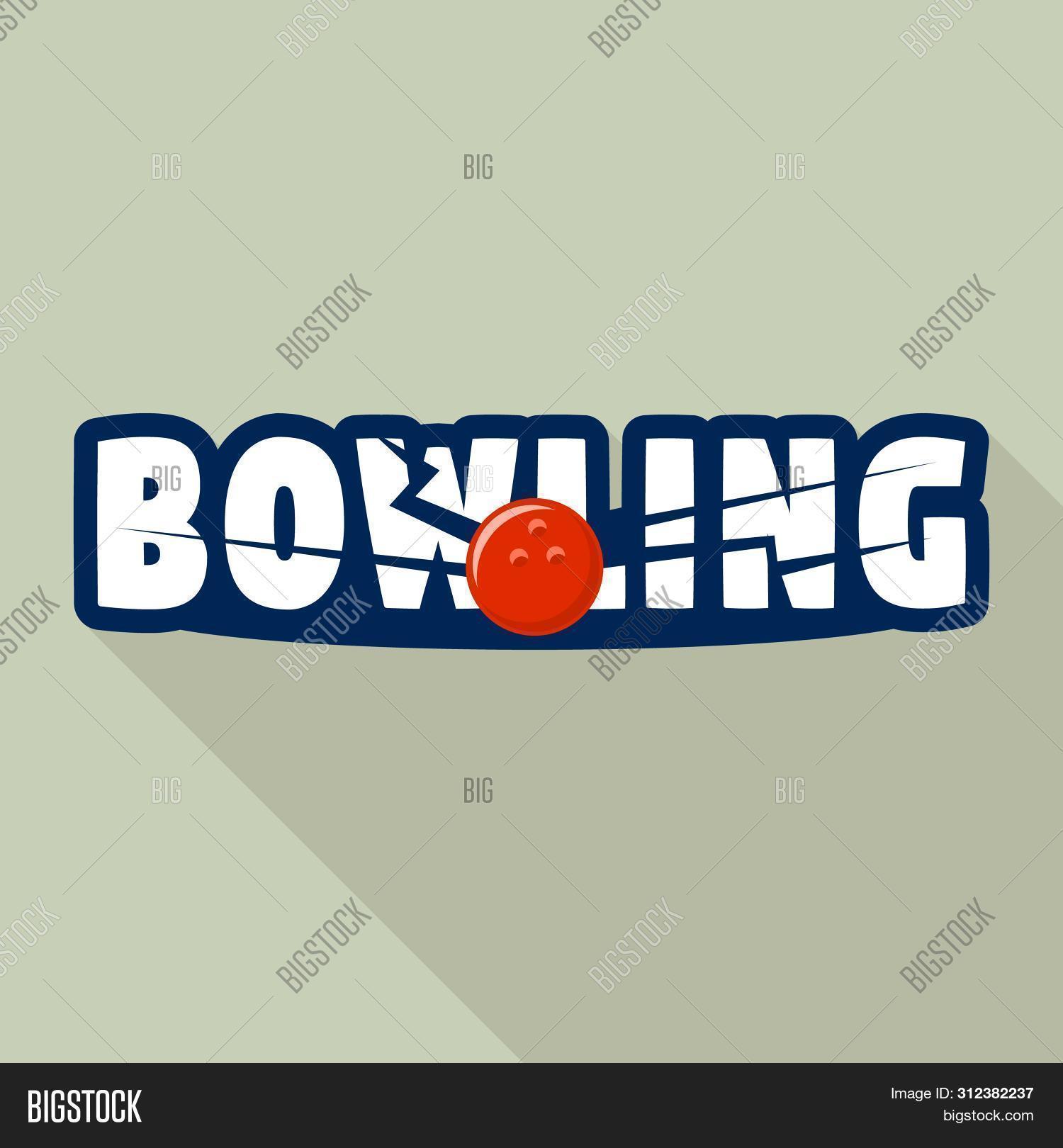 Bowling Strike Logo. Flat Illustration Of Bowling Strike Logo For Web Design