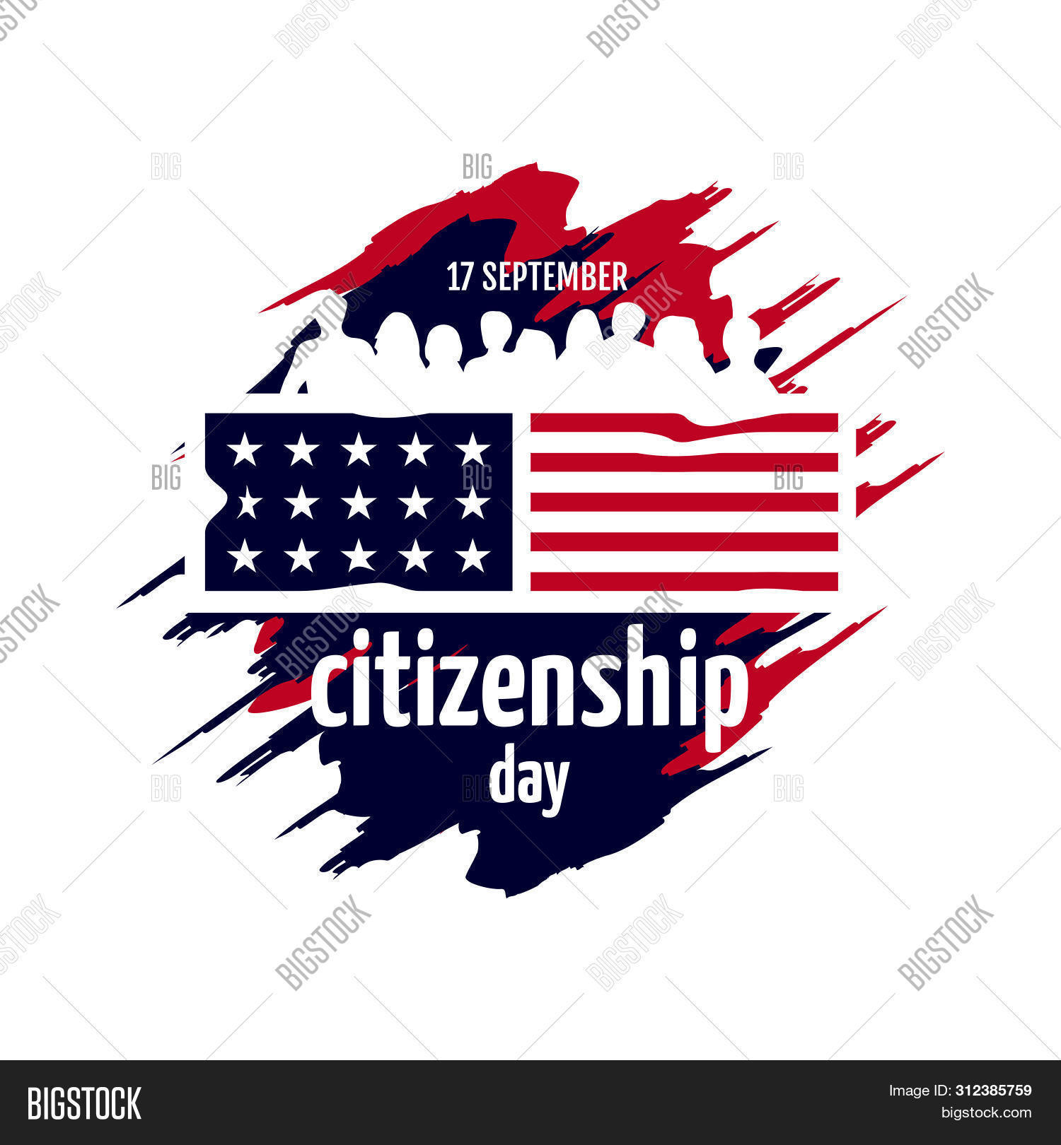 American Citizenship Day 17th September Poster Design vector template