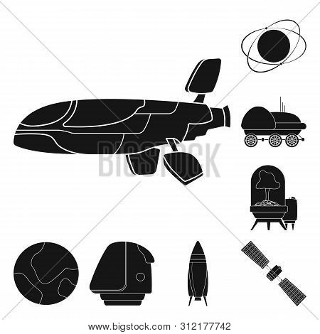 Isolated object of mars and space symbol. Collection of mars and planet stock bitmap illustration. stock photo