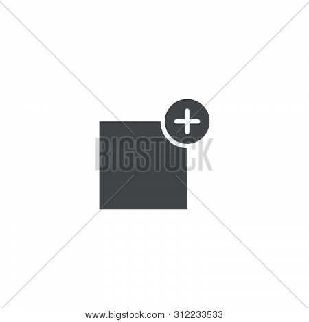 Add new vector icon isolated on white background stock photo
