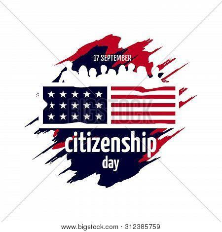 American Citizenship Day 17th September Poster Design vector template stock photo