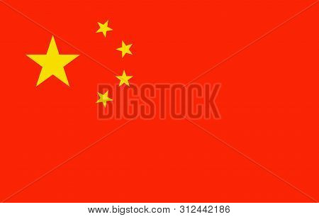 China flag simple, vector china official republic, illustration nationality empire emblem, national banner of patriot, chinese nation, asia east. Country chinese goverment stock photo