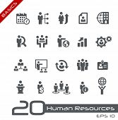 Icons Set of Human Resources and Business Management/Basics