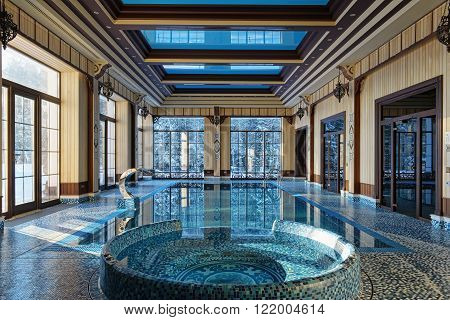interior design home with indoor pool luxury country house