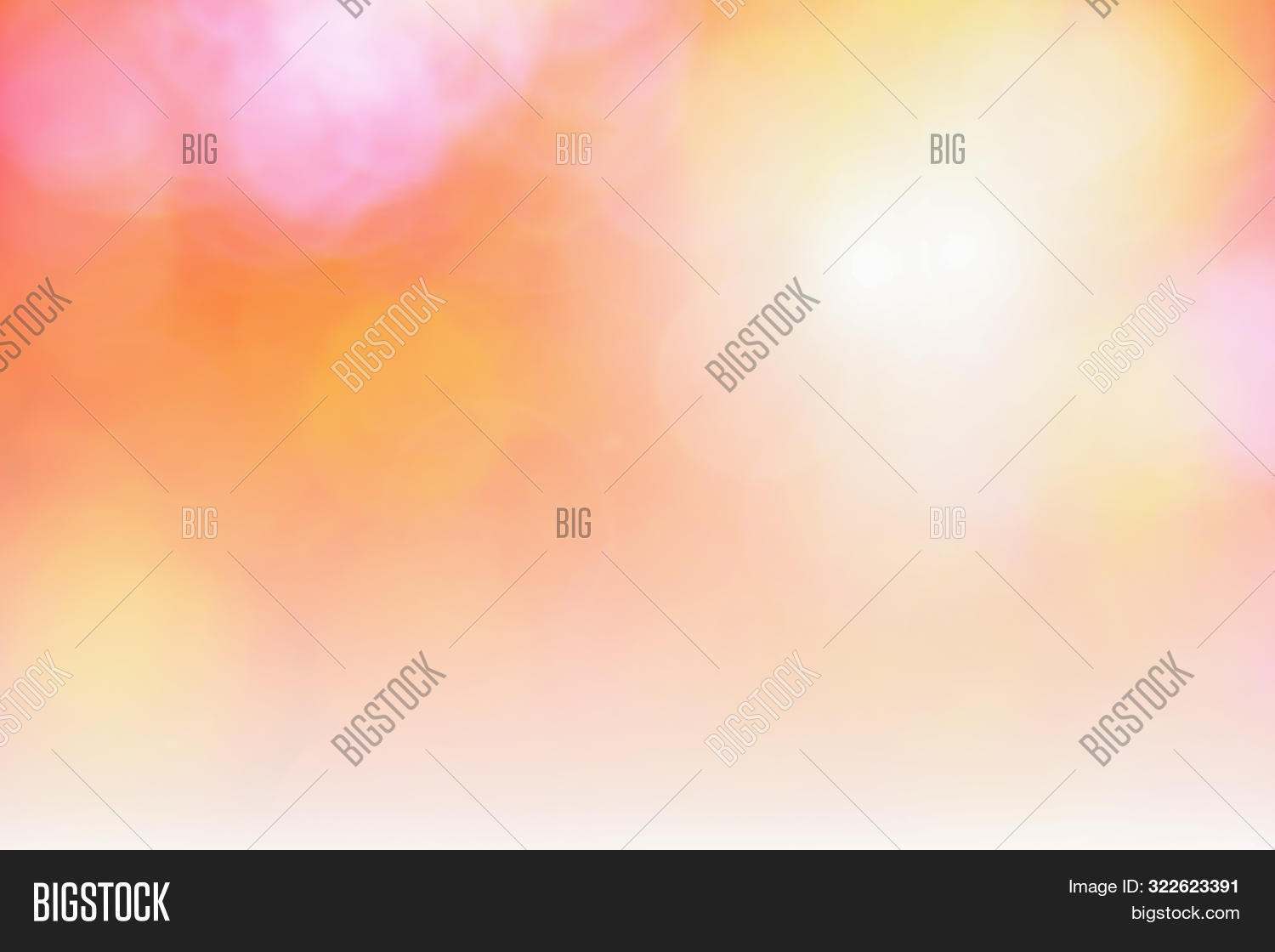 Abstract Orange Bokeh With Blurred Background Nature Blurry Light Party In Vintage Style Warm Shimme