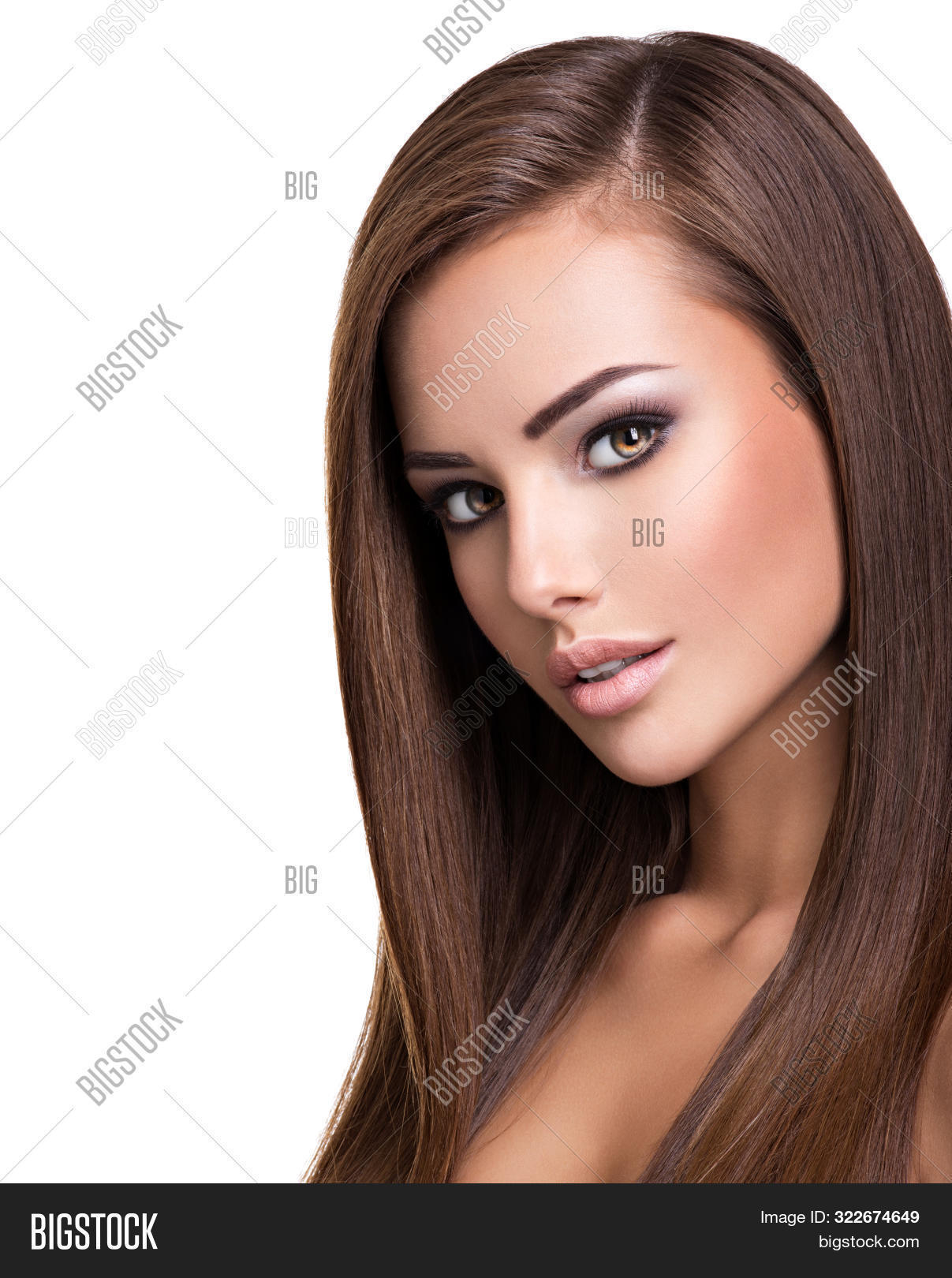 background,beautiful,beauty,brown hair,caucasian,closeup,dark,face,fashion,female,girl,glamour,hair,hairstyle,isolated,long,long hair,looking,make-up,makeup,model,one,portrait,posing,pretty,sexy,straight,straight hair,studio,style,white,woman