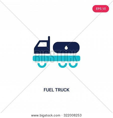 fuel truck icon in two color design style. fuel truck vector icon modern and trendy flat symbol for web site, mobile, app, logo, UI. fuel truck colorful isolated icon on white background. fuel truck icon simple vector illustration, EPS10. stock photo