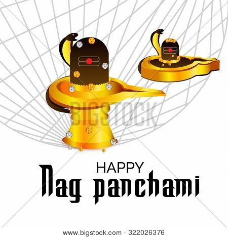 illustration of a Background for Nag Panchami. stock photo