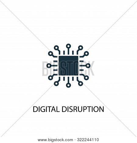 digital disruption icon. Simple element illustration. digital disruption concept symbol design. Can be used for web stock photo
