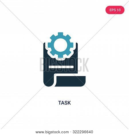 task icon in two color design style. stock photo