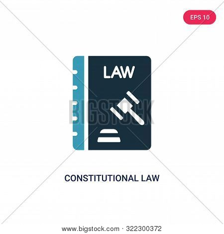 constitutional law icon in two color design style. stock photo