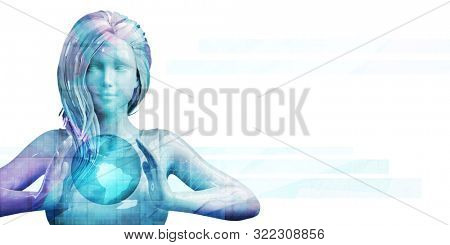 Marketing Strategy and Segmentation Demographics Global Scale 3d Render stock photo