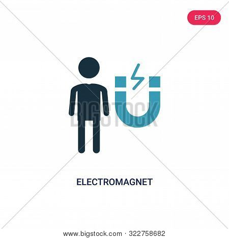 electromagnet icon in two color design style. stock photo