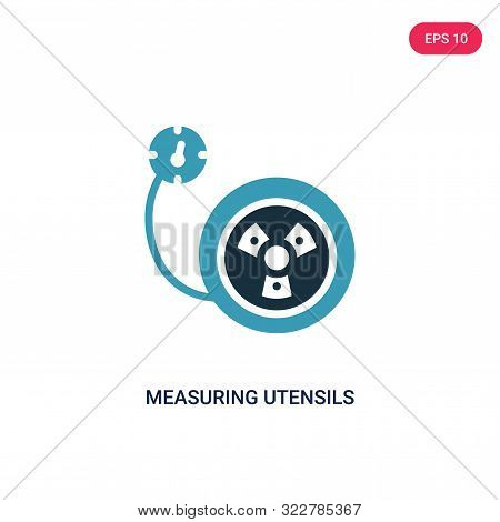 measuring utensils icon in two color design style. stock photo