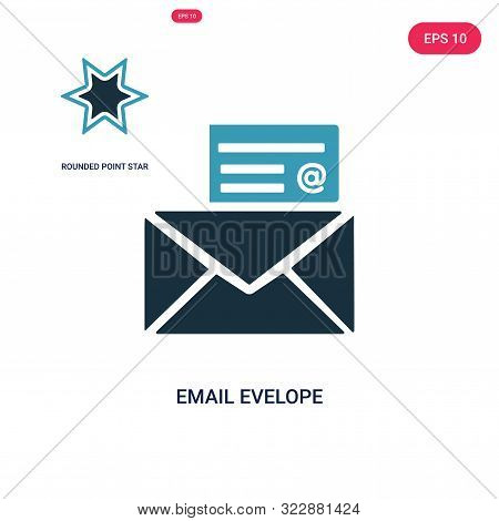 email evelope icon in two color design style. stock photo