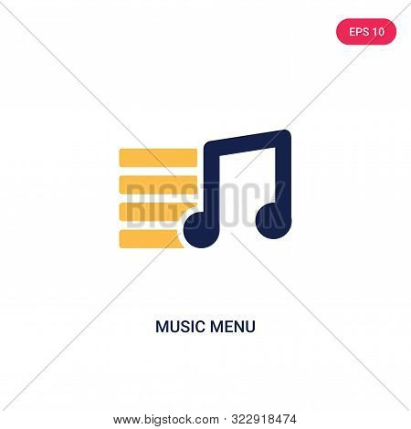 music menu icon in two color design style. stock photo