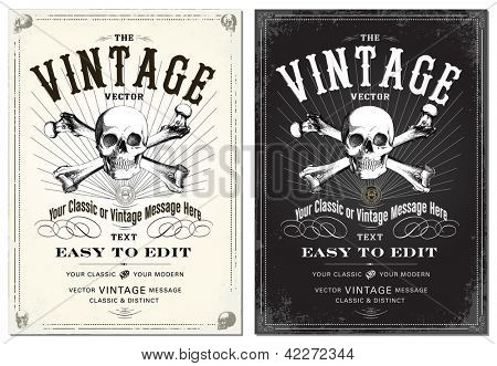 Vector Skull Frame Set. Simple to alter. All textual styles are free textual styles, simple to disco