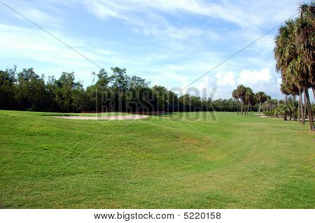 golf course photographed on the east coast of Florida stock photo