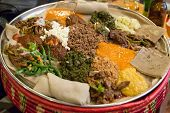 Injera Be Wot, Traditional Ethiopian Food