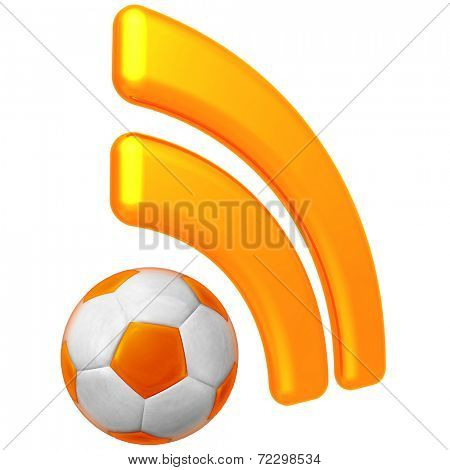RSS Soccer Feed stock photo