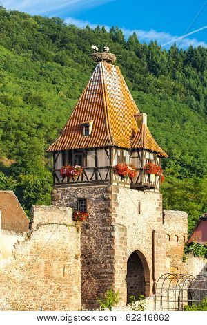 Chatenois, Alsace, France stock photo