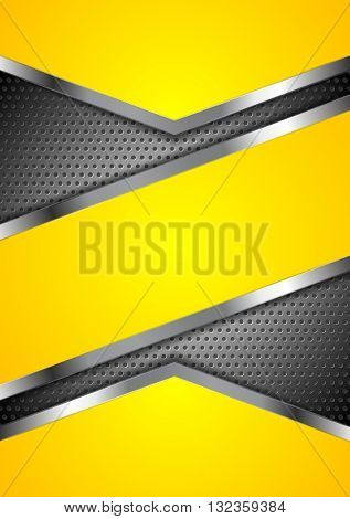Abstract yellow perforated background with metallic design-Dishwasher Magnet Skin (size 24x24)