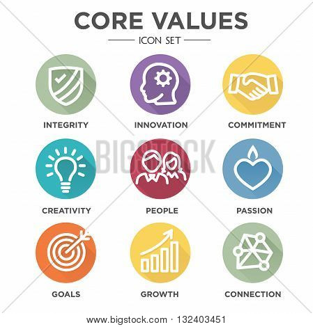 Core Values Round Multicolored