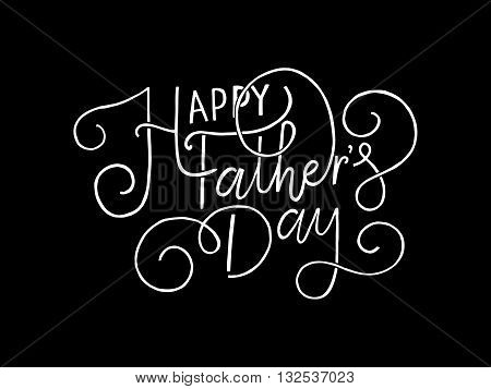\'happy Father\'s Day\' Lettering Typography On Textured Background For Postcard, Card, Invitation.
