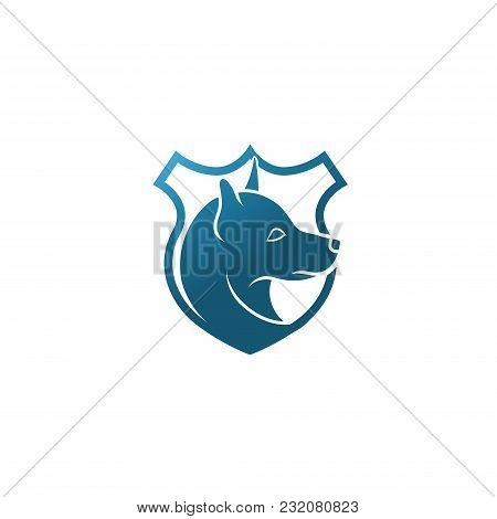 Dog logo vector icon. K9 police dog logo icon vector. K9 academy logo design. stock photo