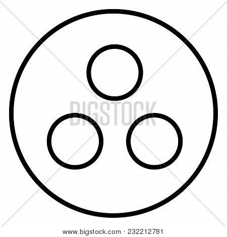 Symbol deaf-mute or workgroup icon black color vector illustration flat style simple image stock photo