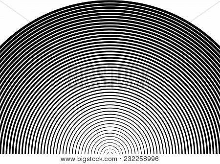 White black color Design elements. Circle many streak. Abstract Circular Wireframe mesh for Linear background. Vector illustration EPS 10. digital lines of different thicknesses from thin to thick stock photo