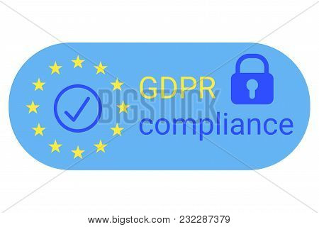 GDPR - General Data Protection Regulation. GDPR compilance icon. Vector illustration stock photo