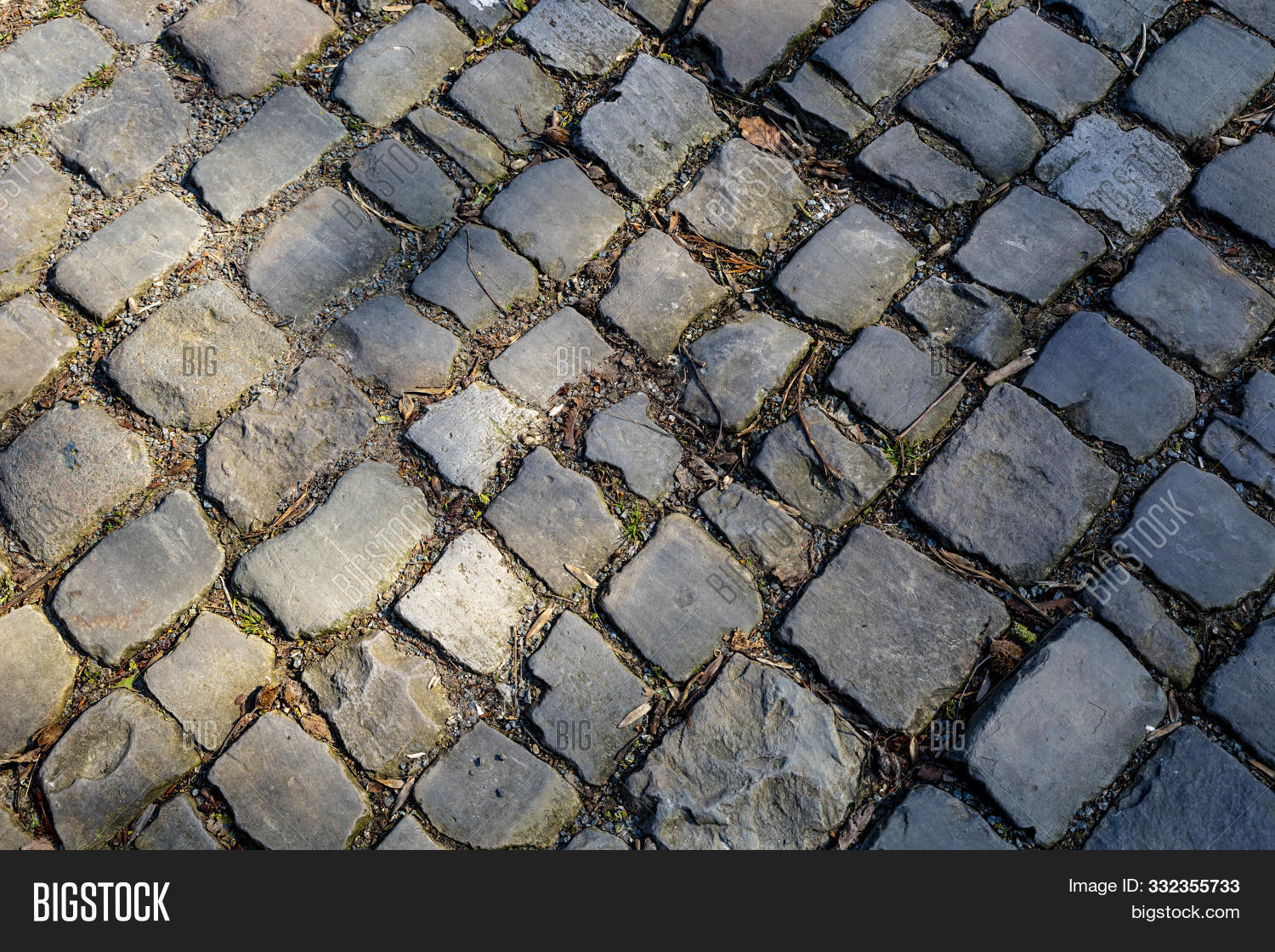 Detail Of The Famous Cobblestone Road Muur Van Geraardsbergen Located In Belgium. On This Road Every