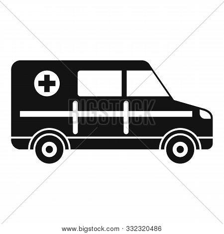 Hospital ambulance icon. Simple illustration of hospital ambulance vector icon for web design isolated on white background stock photo
