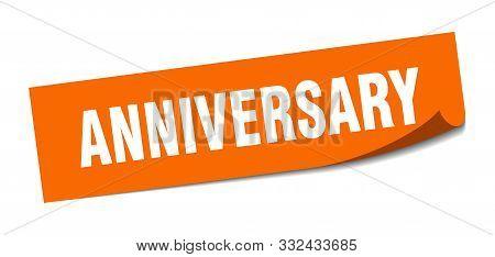 anniversary sticker. anniversary square isolated sign. anniversary stock photo
