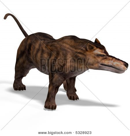 Dangerous dinosaur Andrewsarchus With Clipping Path over white stock photo