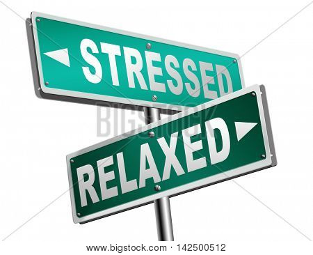 stress therapy and management helps in relaxation reduce tension and relief negativity become relaxed not stressed reduction of negative vibes distressing meditation and concentration 3D illustration stock photo
