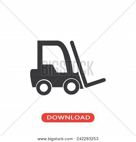 Hoist Truck vector icon flat style illustration for web, mobile, logo, application and graphic design. Hoist Truck vector icon simple sign and modern symbol, EPS10. Hoist Truck vector icon pictogram isolated on white background. stock photo