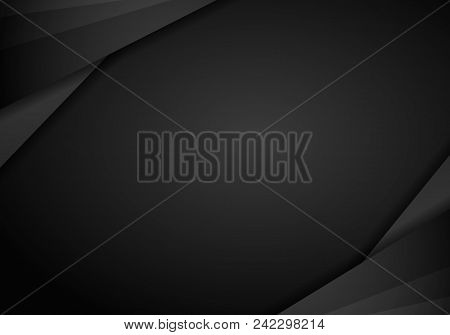 Abstract Metallic Modern Black Frame Design Innovation Concept Layout Background. Technology Backgro