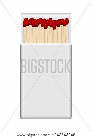 Matchbox on a white background. Vector illustration. stock photo