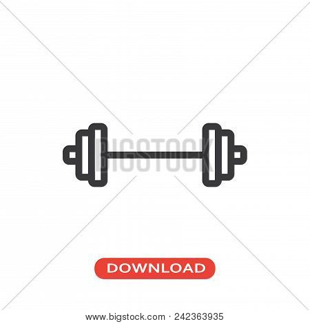 Barbell vector icon flat style illustration for web, mobile, logo, application and graphic design. Barbell vector icon simple sign and modern symbol, EPS10. Barbell vector icon pictogram isolated on white background. stock photo