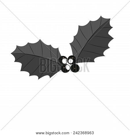 Holly berry leaves Christmas icon. Vector illustration eps 10 stock photo